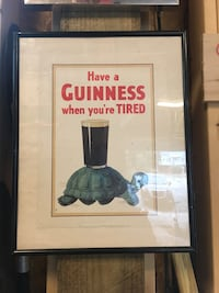 rectangular black wooden frame Have a Guinness When You're Tired photo Surf City, 28445