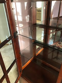 brown wooden framed glass display cabinet Olympia, 98502