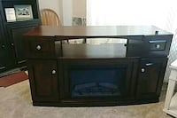 brown wooden TV stand with fireplace Mesa, 85205