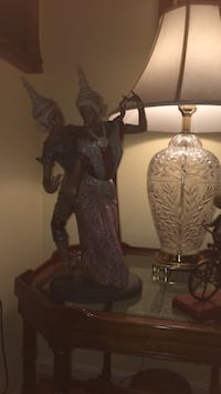brown and gray table lamp Annandale, 22003