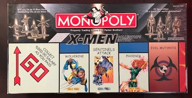 *Rare Parker Brothers X-Men Monopoly Collectors Edition
