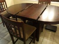 Round Pub Dining room table + 4 chairs + leaf Germantown, 20874