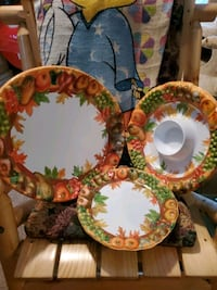 Fall Plasic Dishes.  Woodbridge, 22193