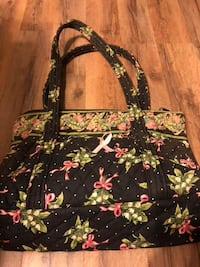 black, green, and pink floral fabric tote bags Elkview, 25071