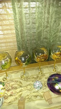 Made in Italy hand painted wine glasses