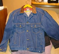 blue denim button-up jacket Silver Spring, 20906