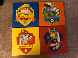 Paw patrol wall canvas pictures