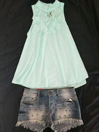 Lace Front Top and Fashion short - new   League City, 77573