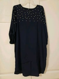 black and white polka dot long sleeve dress Vaughan, L4H 2L3