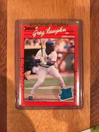 1990 Greg Vaughn Rookie Baseball Card Calgary, T2M 2P2