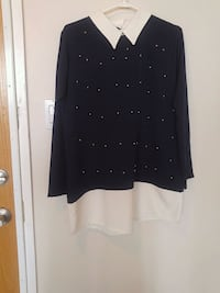 black and white polka dot long-sleeved shirt Ottawa, K1T 2N5