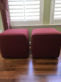 """Upholstered cubes on rollers 20""""x20"""" great for extra seating or coffee table togetherness  Escalon, 95320"""