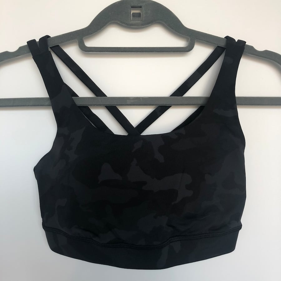 Lululemon camo sports bra