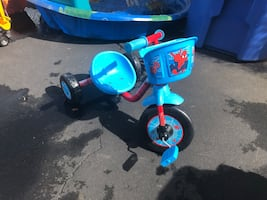 Toddler's blue and red trike