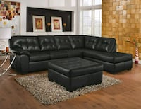 black leather sectional couch San Diego, 92115