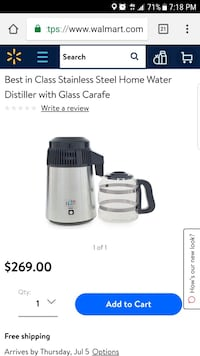 Stainless Steel Home Water Distiller with Glass Carafe Falls Church