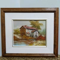 Vintage Oil Painting, solid wood frame  Whitby