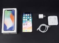 White/silver Iphone X with box Montréal, H1H