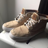 brown-and-white Ralph Laurel high tops Montréal, H2H 1J9