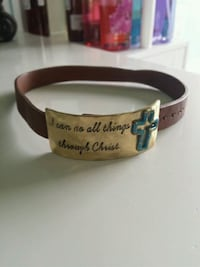 CHOKER. I CAN DO ALL THINGS THROUGH CHRIST. Trinity, 35673
