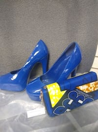 Shoes and clutch purse size 9
