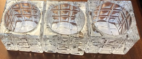 Brand New Glass candle holder- set of 3