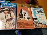 BEN HUR 2PPK, IN HARMS WAY, The Great Escape  vhs tapes Baltimore, 21205