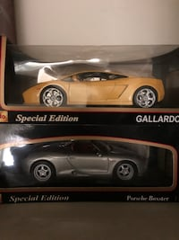 Collectible cars still in box