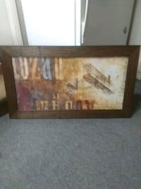 brown wooden framed painting  Stockton, 95204