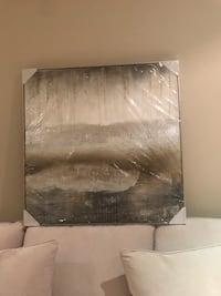 black and white abstract painting Vaughan, L4L 3A9