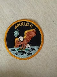 round black, brown, and grey eagle Apollo II badge Alta, 51002