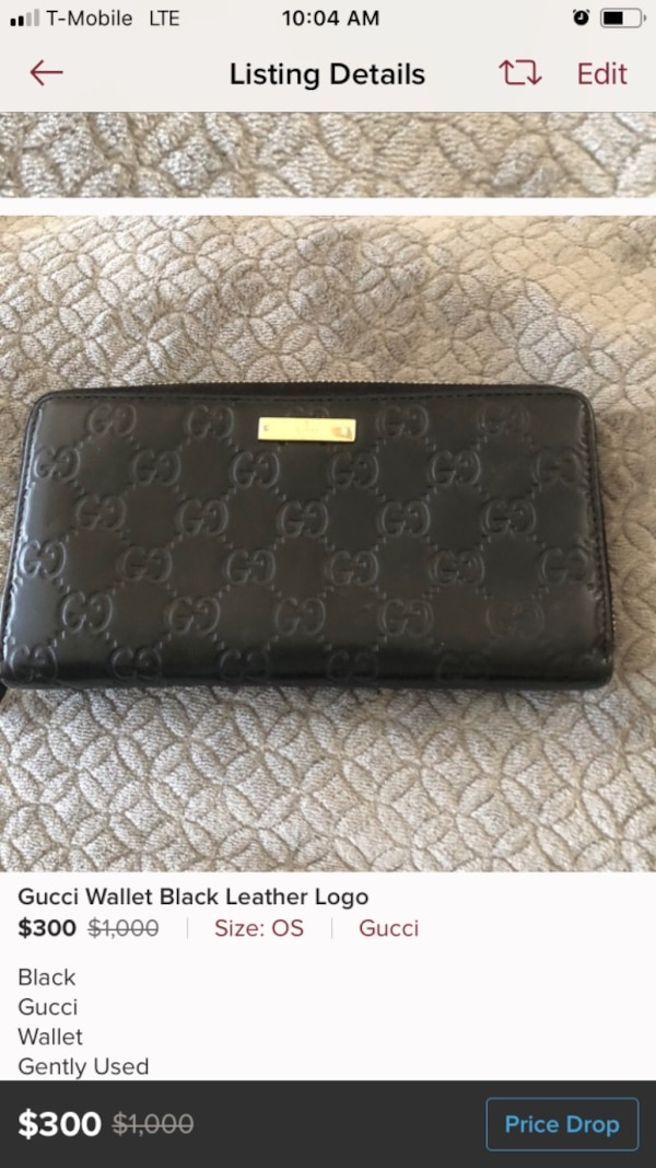 bd524d25027 Used Gucci Wallet Woman Black for sale in Boca Raton - letgo