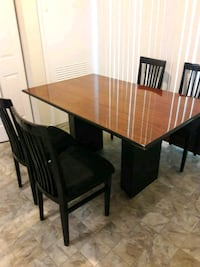 rectangular brown wooden table with four chairs dining set Silver Spring, 20904