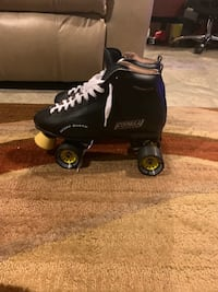 Men's black leather skates