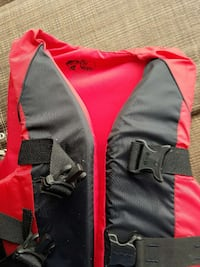 red and black float vest South Bend, 46614