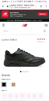 New Balance 928V size 11and half Retail for $149.P Jacksonville, 32221