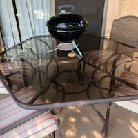 Patio Table with 6 padded Chairs Gilbert, 85297