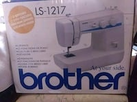 white and blue Brother electric sewing machine box Savannah, 31404