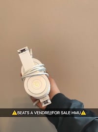 White and gray Beats Solo HD  Headphones