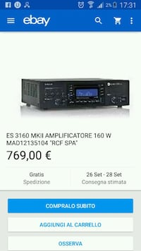Amplificatore  RCF  Metropolitan City of Rome