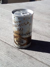 Full pull tab vintage oil can