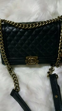 black leather quilted crossbody bag Mississauga, L5T 2L8