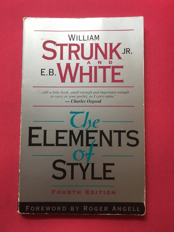 Book: The Elements of Style