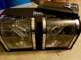 """2 12"""" duel subwoofers with 600w fusion amp"""