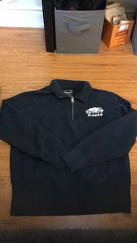 Navy blue roots half-zip polo sweatshirt Toronto, M9W