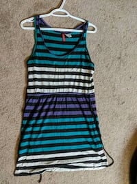 Striped sundress size 10  Calgary, T2W 1Z2
