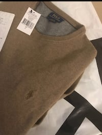 Brun ralph lauren crew-neck tröja Gothenburg, 422 43