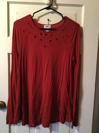 Old navy respd cutout detail top $5 size m