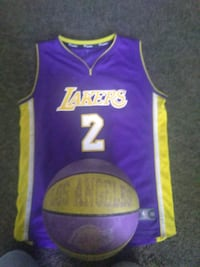 Lonzo Ball Lakers jersey with Lakers ball Las Vegas, 89115