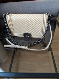 Chanel Le Boy Bag in Beige Leather 1:1